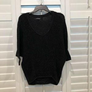 Women's Express Black/Silver Sweater Size Small